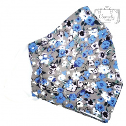 COTTON PROTECTIVE MASK BLUE DESIGN 2